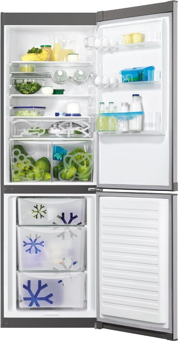 Двухкамерный холодильник Zanussi ZRB36104XA