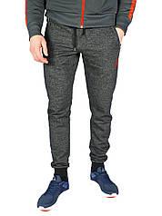 Темно-серые мужские спортивные трикотажные штаны с манжетами JORDAN
