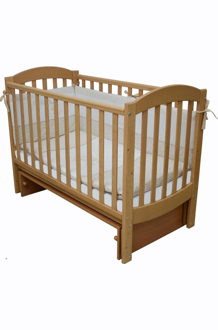 Детская кроватка Верес соня ЛД10 120*60 маятник без ящика бук