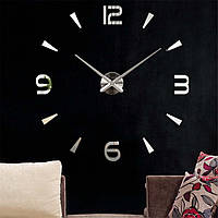Настенные часы 3D, большие наклейки | Зеркальный эффект