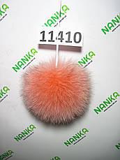 Меховой помпон Песец, Роза, 10 см, 11410, фото 2