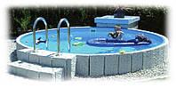 Сборный (каркасный) бассейн Milano d=6м х 1,5м