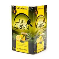 Чай зеленый Feel Green со вкусом лимона, 40 пак