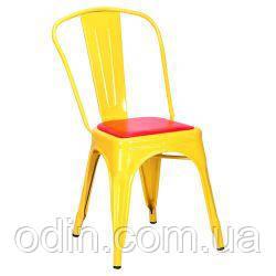 Стул Loft Metal желтый к/з красный (M-503A) 513758