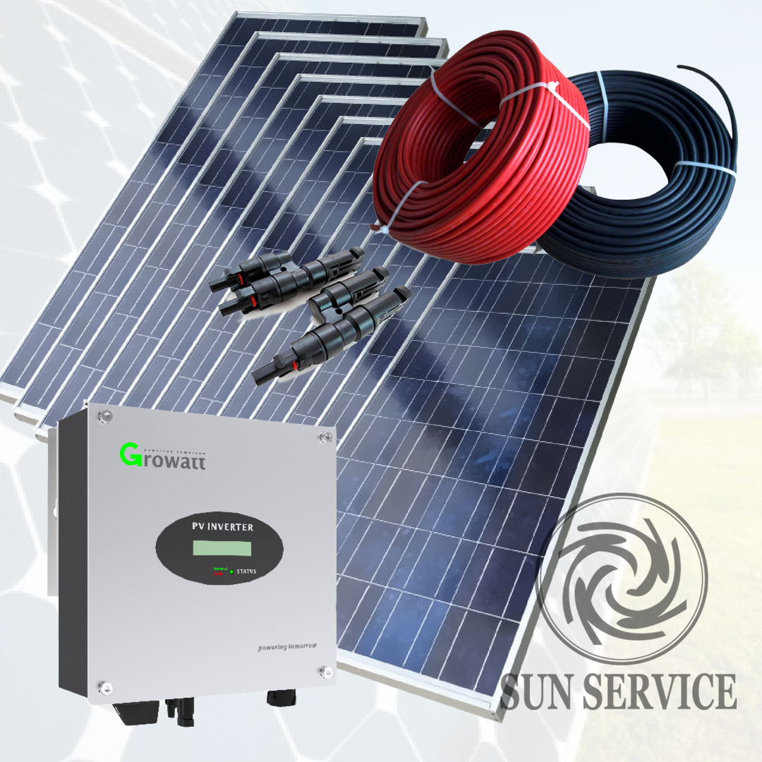 3 кВт солнечная сетевая электростанция под Зеленый тариф 1 фаза