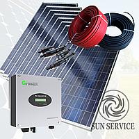 """Сонячна електростанція 3kW мережева під """"Зелений тариф"""" комплект економ"""