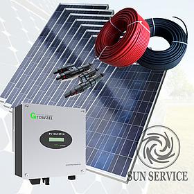 3кВт солнечная сетевая электростанция под Зеленый тариф 1 фаза