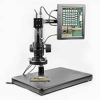 Видеомикроскоп с монитором BAKU BA-002 (подсветка диодная с регулировкой, фокус 30-156 мм, кратность увеличения 180X, 14мП)