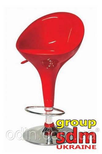 Стул барный Джолли NEW, высокий, пластик, хром, цвет красный SDMG06RedNEW