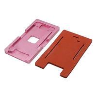 Комплект форм (из металла и пористой резины) для APPLE iPhone 6 Plus, для отцентровки и склеивания дисплея со стеклом оснащённым дисплейной рамкой