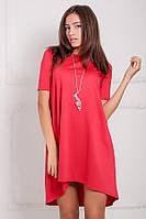 Червоне асиметричне плаття Lily Розпродаж (XXL / 52)
