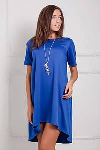 Жіноче синє асиметричне плаття Lily (XS-XXL)
