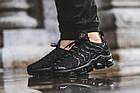 Мужские спортивные кроссовки Nike Air VaporMax Plus Black (в стиле Найк Вапормакс Плюс) черные, фото 2