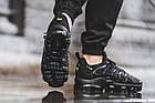 Мужские спортивные кроссовки Nike Air VaporMax Plus Black (в стиле Найк Вапормакс Плюс) черные, фото 3