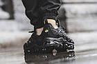 Мужские спортивные кроссовки Nike Air VaporMax Plus Black (в стиле Найк Вапормакс Плюс) черные, фото 4