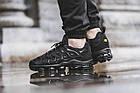 Мужские спортивные кроссовки Nike Air VaporMax Plus Black (в стиле Найк Вапормакс Плюс) черные, фото 5