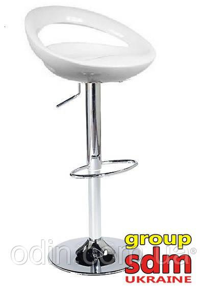Стул барный Торре, высокий, пластик, основание хром, цвет белый SDM0080081BL