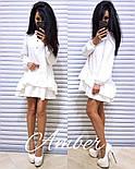 Женское стильное платье-трапеция с рюшами (6 цветов), фото 2