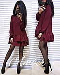 Женское стильное платье-трапеция с рюшами (6 цветов), фото 3