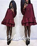 Женское стильное платье-трапеция с рюшами (6 цветов), фото 4