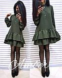 Женское стильное платье-трапеция с рюшами (6 цветов), фото 6
