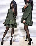 Женское стильное платье-трапеция с рюшами (6 цветов), фото 7
