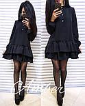 Женское стильное платье-трапеция с рюшами (6 цветов), фото 9