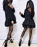 Женское стильное платье-трапеция с рюшами (6 цветов), фото 10
