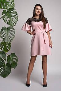 Платье Афина 0310_6 Розовое