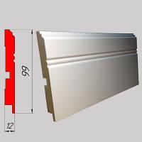 Белый тонкий высокий плинтус из МДФ, высотой 99 мм, 2,8 м Белый