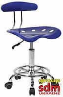 Кресло Астор, пластиковое, на колесах, цвет синий astorblue