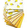 Набор тканей (Ткань) для Пэчворка Желто-белые 50x50 см 8 шт