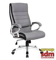Кресло Солано, мягкое сиденье и спинка, кожзам, цвет светло-серый SOLANOGRE