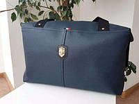 Большая синяя спортивно - повседневная сумка Ferrari