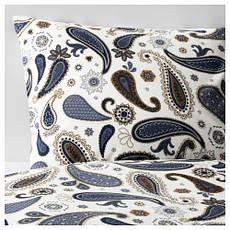 СОТБЛОМСТЕР Комплект постельного белья, белый/синий 30258461 IKEA, ИКЕА, SÖTBLOMSTER, фото 3