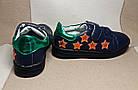 Темно-синие кеды - туфли-кроссовки девочкам, р. 26,28,30,31,34,35, фото 4