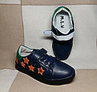 Темно-синие кеды - туфли-кроссовки девочкам, р. 26,28,30,31,34,35, фото 2
