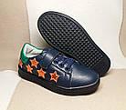 Темно-синие кеды - туфли-кроссовки девочкам, р. 26,28,30,31,34,35, фото 3