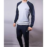 Спорт костюм Nike Little темно-синий+светло-серый 518 (РЕПЛИКА)