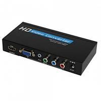 Конвертор VGA+ RGB в HDMI(гн.VGA+ 3гн.RCA- гн.HDMI)