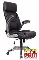 Кресло Мурано, мягкое сиденье и спинка, кожзам, цвет черный MURANOBL