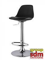 Стул барный Тау Н, хромированный, сиденье пластик, подушка из кожзама, цвет черный TowHBl