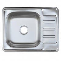 Врезная кухонная мойка Platinum 58*48*18 Satin 0.8, фото 1