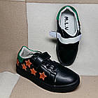 Черные кеды - туфли-кроссовки, р. 26, 28, 29, 31, 32, 33, 34, фото 2
