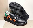 Черные кеды - туфли-кроссовки, р. 26, 28, 29, 31, 32, 33, 34, фото 3