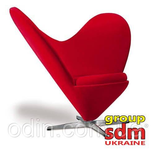 Кресло Коразон, ткань красная CORRED