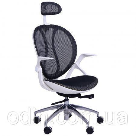 Кресло Lotus HR пластик белый/сетка черная 516780