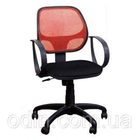 Кресло Бит/АМФ-8 сиденье Сетка серая/спинка Сетка красная 117001