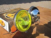 Фары противотуманные хромированные №204 желтое стекло.
