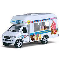 Kinsmart грузовик Ice-Cream Truck, метал.инерц.откр.дв